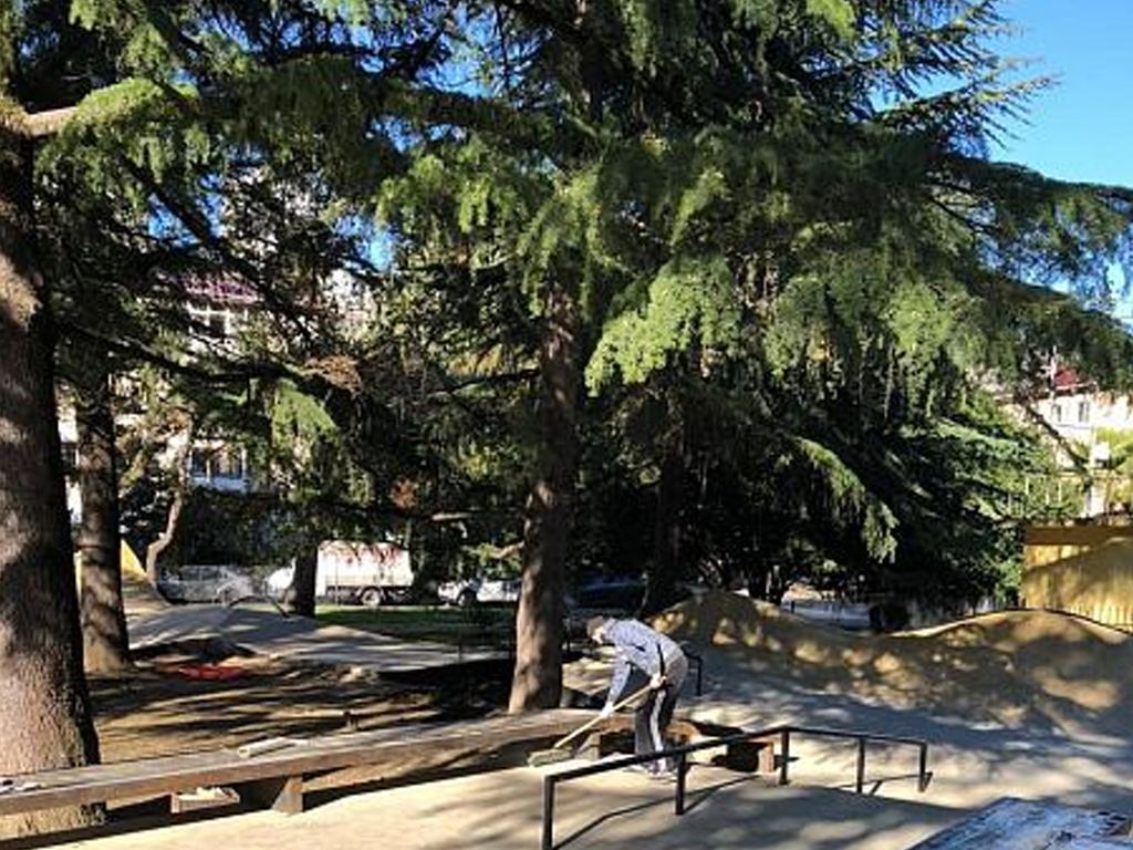 В центре Сочи откроют обновлённую скейт-площадку