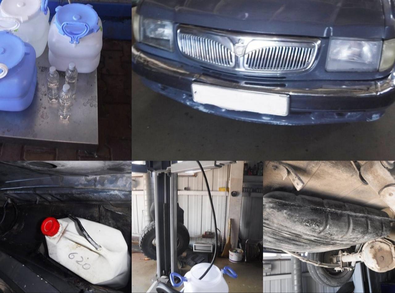 В Сочи таможенники нашли более 60 литров спирта в хитроумно переделанном автомобиле из Абхазии